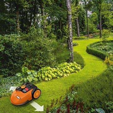 Rasenmähroboter bei der Arbeit